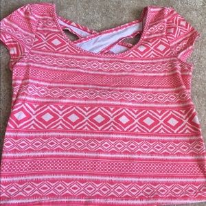 Charlotte Russe Top Crop Criss Cross Back